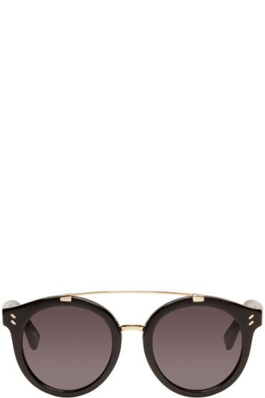 Stella McCartney - Black Double Bridge Sunglasses