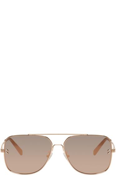 Stella McCartney - Rose Gold Caravan Aviator Sunglasses