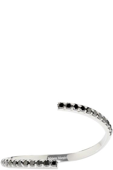Maison Margiela Fine Jewellery - White Gold & Black Diamond Split Alliance Bracelet