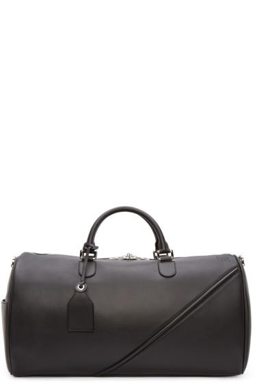 Loewe - Black Leather Duffle 51 Bag