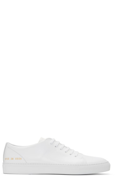 Common Projects - White New Court Low Sneakers