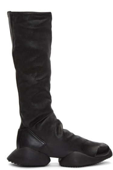 Rick Owens - Black adidas Edition Runner Stretch High-Top Sneakers