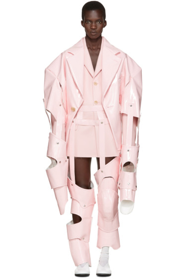 Comme des Garçons - Pink Cut-Out Vinyl Suit