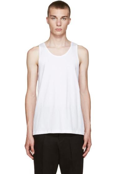 Comme des Garçons Shirt - White Basic Tank Top