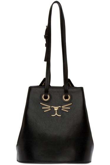 Charlotte Olympia - Black Feline Bucket Bag