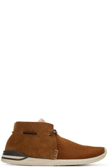 Visvim - Brown Huron Mesh Moc-Folk Sneakers