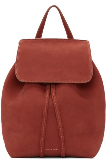 Mansur Gavriel - Red Suede Mini Backpack