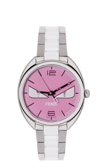 Fendi - Silver & Pink Momento Bugs Watch