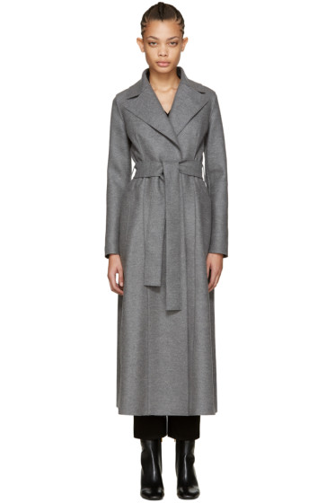 Harris Wharf London - Grey Wool Long Duster Coat