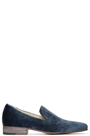Brock Collection - Blue Velvet 1994 Loafers