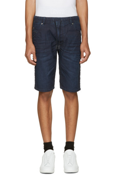 Diesel - Blue Denim Krooshort-Ne Jogg Shorts