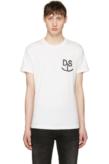 Diesel - White T-Deigo-Pkt-Mo T-Shirt