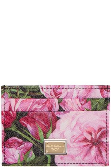 Dolce & Gabbana - Pink Floral Card Holder