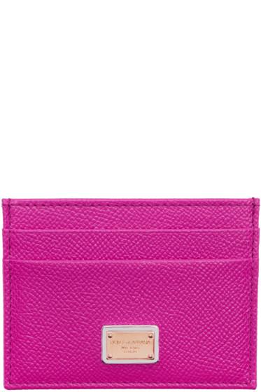 Dolce & Gabbana - Pink Leather Card Holder