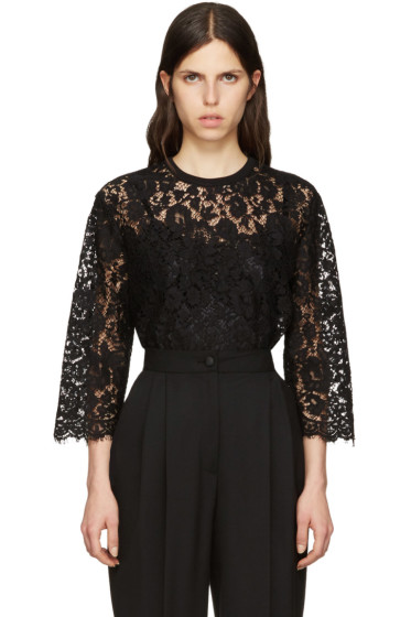 Dolce & Gabbana - Black Macrame Lace Top