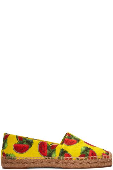 Dolce & Gabbana - Yellow Watermelon Espadrilles