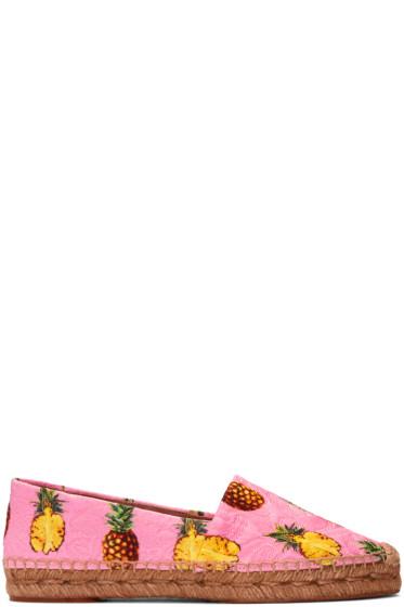 Dolce & Gabbana - Pink Pineapple Espadrilles