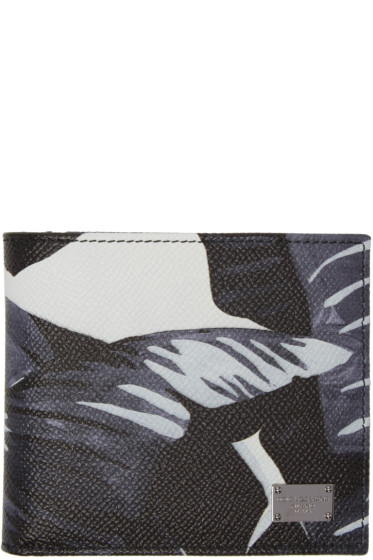 Dolce & Gabbana - Multicolor Banana Leaves Print Wallet