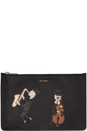 Dolce & Gabbana - Black Sax & Cello Player Pouch