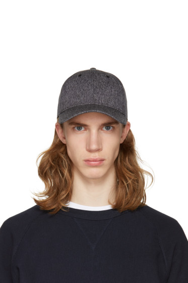 Rag & Bone - Black Marled Baseball Cap