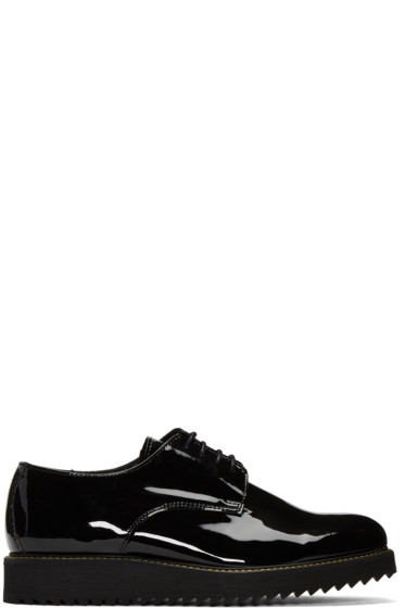 Public School - Black Patent Siggy Creeper Derbys