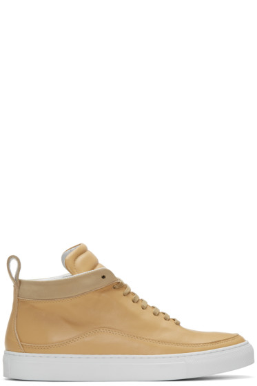 Public School - Beige Braeburn High-Top Sneakers