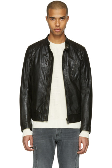 Belstaff - Black Leather Sandway Jacket