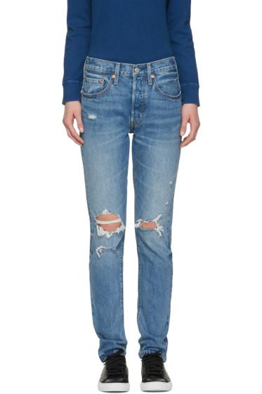 Levi's - Blue 501 Skinny Jeans