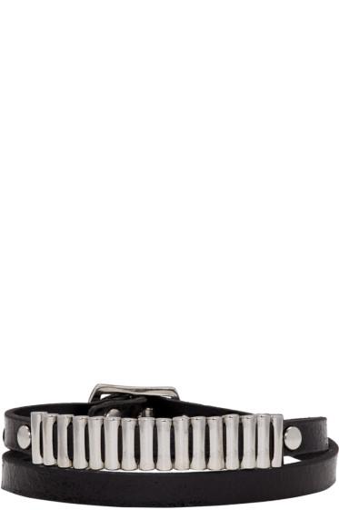 McQ Alexander Mcqueen - Black Bullet Mini Wrap Bracelet