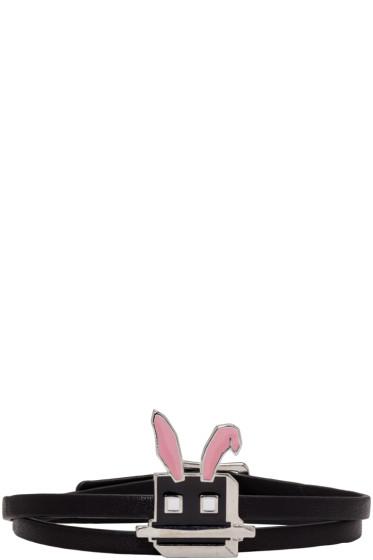 McQ Alexander Mcqueen - Black Electro Bunny Mini Wrap Bracelet