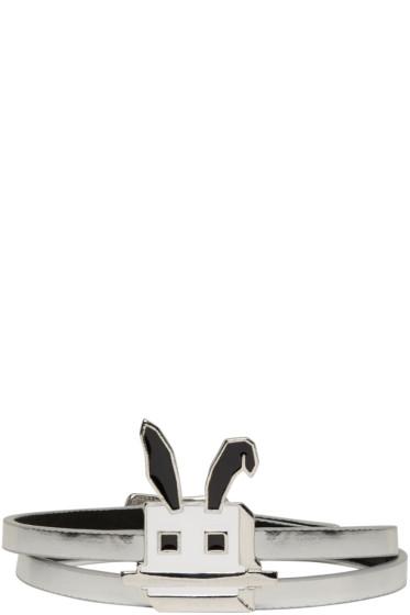 McQ Alexander Mcqueen - Silver Electro Bunny Mini Wrap Bracelet