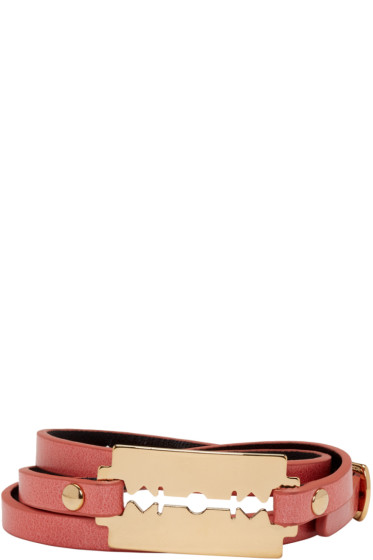 McQ Alexander Mcqueen - Pink Razor Triple Wrap Bracelet