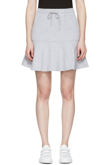 McQ Alexander Mcqueen - Grey Peplum Miniskirt