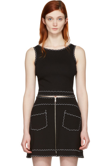 McQ Alexander Mcqueen - Black Cropped Tank Top
