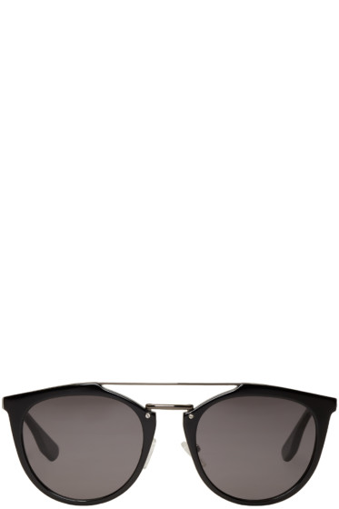 McQ Alexander Mcqueen - Black Double Bridge Sunglasses