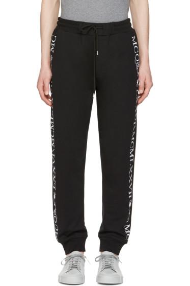 McQ Alexander Mcqueen - Black Numeral Lounge Pants