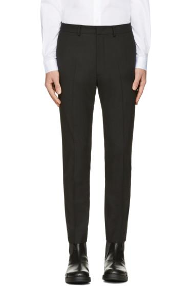 McQ Alexander Mcqueen - Black Peg Leg Trousers
