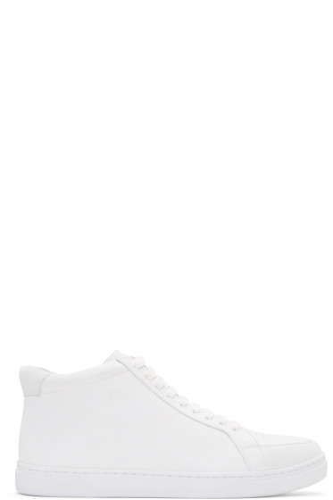Tiger of Sweden - White Arne High-Top Sneakers