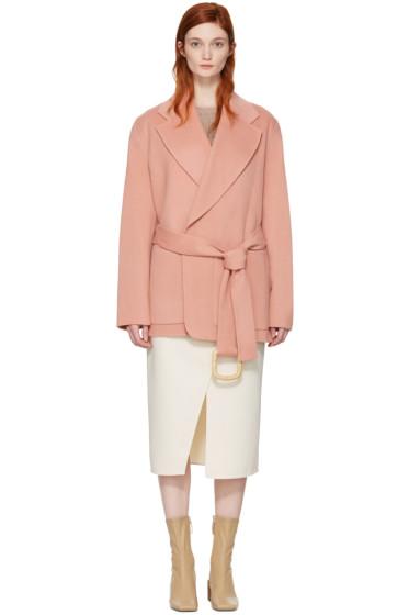 Acne Studios - Pink Lilo Doublé Belted Coat