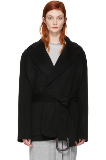 Acne Studios - Black Lilo Doublé Belted Coat