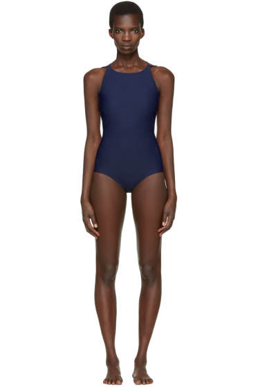 Acne Studios - Navy Halla Open Back Swimsuit