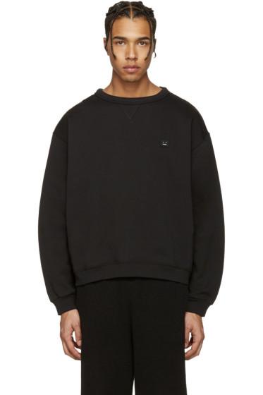 Acne Studios - Black Fint Face Sweatshirt