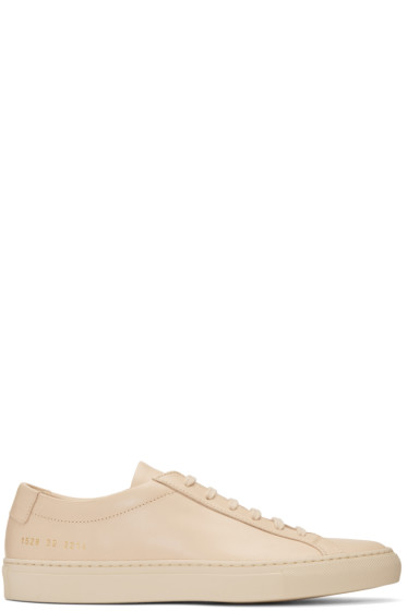 Common Projects - Beige Original Achilles Low Sneakers