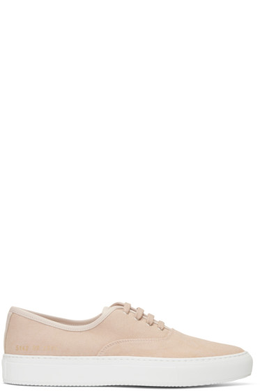 Common Projects - Pink Canvas Tournament Four Hole Sneakers