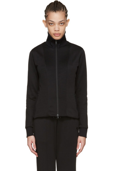 Y-3 - Black Zip-Up Track Jacket