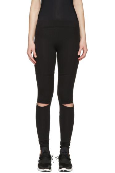 Y-3 - Black Cut Leggings