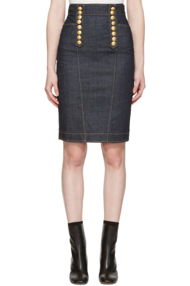 Dsquared2 - Blue Denim Livery Pencil Skirt