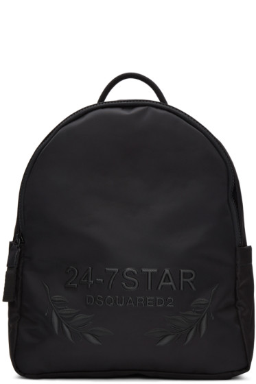 Dsquared2 - Black Embroidered Backpack