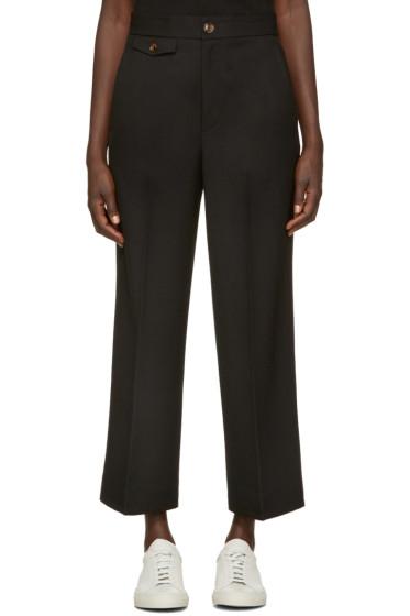 Helmut Lang - Black High Waist Crop Trousers