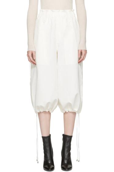 Helmut Lang - Off-White Piqué Culottes